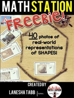 This product is a quick way to expose your students to shapes that can be found in our world. The students study the photograph, identify the shape, and build it! There is also a place for the students to show how many sides there are in the shape that they've built.