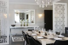 contemporary chic dining table decor <3
