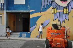 Street Art, Arte Urbana, Graffiti, O Bairro i o Mundo, Quinta do Mocho, Sacavém, Loures, Miguel Brum.