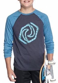 JK Tech  Logo Raglan Long Sleeve Activewear Boys 8-20