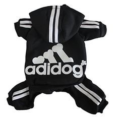 Scheppend Adidog Pet Clothes for Dog Cat Puppy Hoodies Coat Winter Sweatshirt Warm Sweater,Black XXL -- More info could be found at the image url.