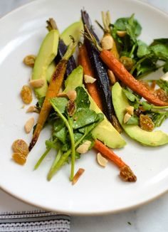 Roasted Carrot & Avocado Salad | Camille Styles