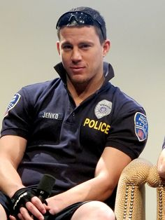 Channing Tatum in 21 jump street!  most amazing movie ever! it was soo funny i laughed the entire time!   and it has a big plus since Channing Tatum is in it!<3
