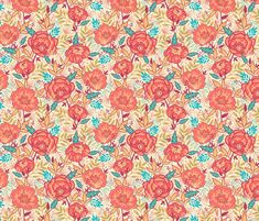 Bright Garden Flowers fabric by oksancia on Spoonflower - custom fabric