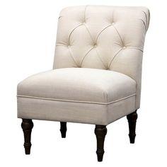 Upholstered Chair Tufted Slipper Linen