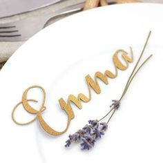 Set Of 10 Laser Cut Calligraphy Place Names -  Full of texture, organic fabrics and more moss than you can shake a distressed stick at; Autumn-inspired wedding styling is all about natural simplicity.