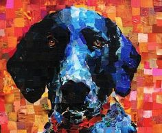 Collage dog #art #beautiful. I have been trying to do my own collage dog and it is hard to do something decent. This dog looks like he wants to kiss me on the mouth.