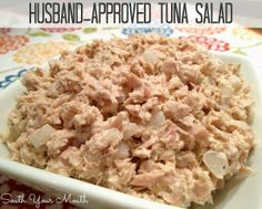The name of this recipe may be Husband-Approved Tuna Salad, but we guarantee that anyone and everyone will be pleased by a helping of this deli salad. It only takes five simple ingredients to make this easy tuna salad recipe. Tuna Recipes, Seafood Recipes, Salad Recipes, Recipies, Chicken Recipes, Deli Salad Recipe, Best Tuna Salad Recipe, Old Fashioned Tuna Salad Recipe, Southern Tuna Salad Recipe