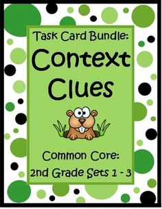 This Context Clues for 2nd Grade Task Card Bundle by The Teacher Next Door has 3 sets of Common Core task cards (96 cards) that will help your students practice identifying word meaning using context clues. Each card has a short story with a second grade vocabulary word (underlined) and students choose the correct meaning from the three that are listed. Context clues can be tricky, but this type of focused practice can really help strengthen reading skills. $