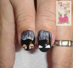 Dark Knight Nail Art
