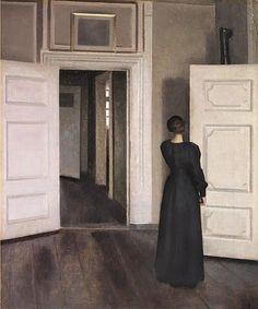 Vilhelm Hammershoi (Danish Artist, 1864–1916) Interior