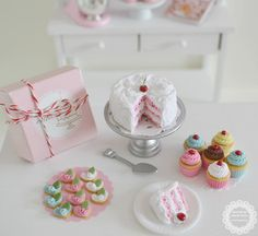 Sweet Petite Play Scale Cherry Chip Cake Set by SweetPetiteShoppe