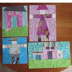 I've been a fan of quilt blocks that depict houses, which sometimes are seen in quilting bees where each person personalizes their house to ...