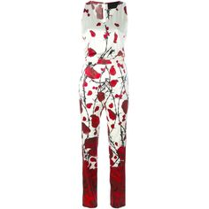 Philipp Plein Chill Time Jumpsuit ($1,133) ❤ liked on Polyvore featuring jumpsuits, white, philipp plein, jump suit, white jump suit and white jumpsuit