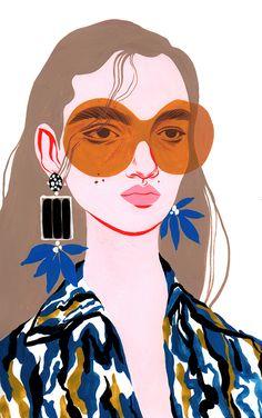 Illustration Mode, Portrait Illustration, Digital Illustration, Hipster Illustration, Fashion Illustration Collage, Simple Illustration, Fantasy Illustration, Illustration Artists, Fashion Illustration Techniques