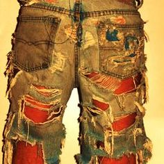 Torn Jeans, Cut Off Jeans, Band Patches, Bleached Jeans, Looking Online, Discount Clothing, Destroyed Jeans, Distressed Shorts, Denim Fabric