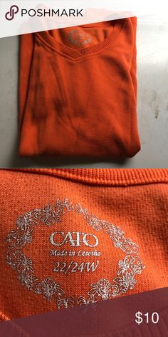Orange ladys shirt Orange lady's shirt Cato Tops Blouses