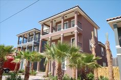 House vacation rental in Destin Area from VRBO.com! Parking looks like it would be an issue. There is a small private pool, but possible room for high-top tables; may use grassy area as well. It costs $4142/week and could get it possibly for 690 dollars a night. 5 bdrm, 4 bath; sleeps 16. Great view with no roads to cross, but houses close together. Located in Miramar Beach and close to outlets as well.
