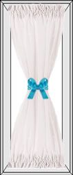 directions for making hourglass curtains (for kitchen door)