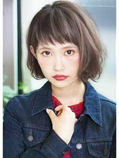 「丸顔 ショートバング」の画像検索結果 New Haircuts, Bob Hairstyles, Hear Style, Bob Haircut With Bangs, Fall Hair, Cut And Color, Asian Beauty, Hair Inspiration, Short Hair Styles