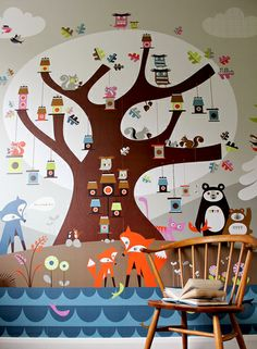 way too cute wallpaper - made to fit the dimensions of your wall!  Not want, need.