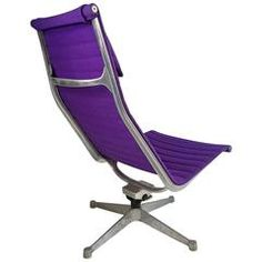Eames for Herman Miller Aluminum Group Lounge Chair, Rare Lavender