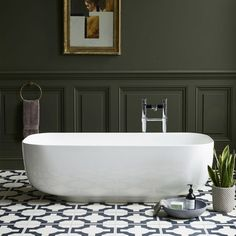 Clearwater Uno Clearstone Freestanding Bath - 1550 x 725mm