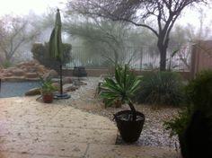 incoming rain and hail