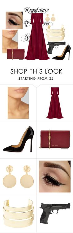 """Kingsman"" by demy14love on Polyvore featuring Hourglass Cosmetics, Carolina Herrera, Christian Louboutin, Marc Jacobs, Mounser, Charlotte Russe and Smith & Wesson"