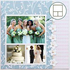 scrapbook layouts free | Free SVG File – Sure Cuts A Lot – 07.17.10 – Trio Frame ... #weddingscrapbooks