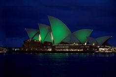 Sydney Opera House goes green for St Patrick's Day
