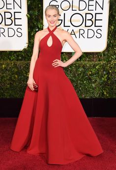 """Making her gown to the red carpet, """"Orange Is the New Black"""" actress Taylor Schilling shined as she made her way through the red carpet. Taylor is nominated for """"Best performance by an actress in a TV series comedy or musical"""" for her role in the Netflix hit."""