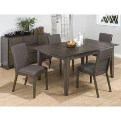 Jofran 728 Series Rectangular Dining Table in Antique Gray Ash Finish
