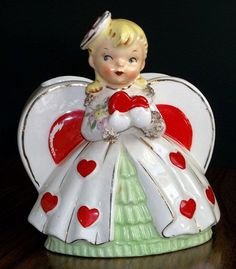 Hmmmm Who shall I give my heart to? Vintage Planter
