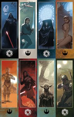 Star Wars Bookmarks Collection, Tomasz Jedruszek on ArtStation at https://www.artstation.com/artwork/wPv2w