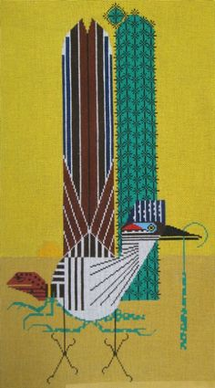 Charley Harper Needlepoint <BR>Tall Tail (Out of Stock)