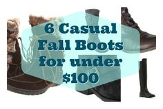 6 casual fall boots for under $100 #BabyCenterBlog