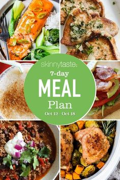 A free 7-day, flexible weight loss meal plan including breakfast, lunch and dinner and a shopping list. All recipes include calories and updated WW Smart Points. Weight Loss Meals, Weight Watchers Meals, Edamame, 7 Day Meal Plan, Meal Prep, Pumpkin And Ginger Soup, Red Lentil Soup, Skinnytaste, Meals For The Week