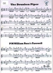 The Drunken Piper, P/M William Ross's Farewell Via Hawick Pipes and Drums