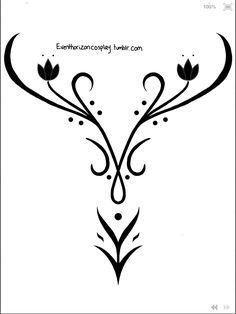 Event Horizon Anna Cosplay - Winter bodice embroidery