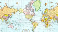 El mapamundi que vemos durante la infancia condiciona nuestra representación mental sobre la distribución de los países en la Tierra. Pese a que la realidad es una, cada país representa el mapa del mundo en función de factores históricos,  geopolíticos y culturales.