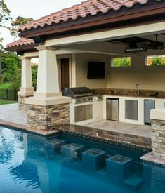 Backyard patio ideas with pool swim up bar Trendy ideas Small Backyard Pools, Backyard Patio Designs, Swimming Pools Backyard, Swimming Pool Designs, Outdoor Pool, Small Patio, Backyard Pool Landscaping, Small Backyards, Backyard Ideas Pool