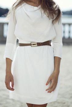 Nuostabi šilkinė balta suknytė - Suknelės - Pincled