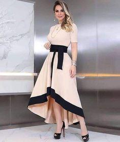 Shop Short Sleeve Colorblock Insert Dip Hem Dress right now, get great deals at joyshoetique Dress Outfits, Casual Dresses, Fashion Dresses, Girls Dresses, Prom Dresses, Midi Dresses, Evening Dresses, Dress Skirt, Dress Up