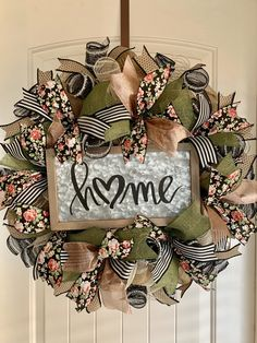 Excited to share the latest addition to my shop: Farmhouse Floral Home Front Door Wreath Mesh Ribbon Wreaths, Christmas Mesh Wreaths, Deco Mesh Wreaths, Holiday Wreaths, Burlap Wreaths For Front Door, Winter Wreaths, Floral Wreaths, Prim Christmas, Spring Wreaths