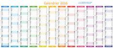 Calendrier excel 2016 avec numeros de semaine