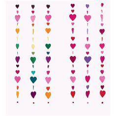 Wool Felt Heart Garlands, set of 3