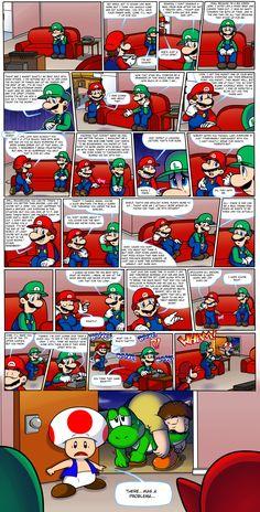Video Games Funny, Funny Games, Mario And Luigi, Mario Bros, Super Princess Peach, Mario Comics, Special Games, Free Characters, Super Mario Art
