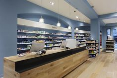 Pharmacy Design | Retail Design | Store Design | Pharmacy Shelving | Pharmacy Furniture | Blue Goose pharmacy by Red Design Group, Melbourne