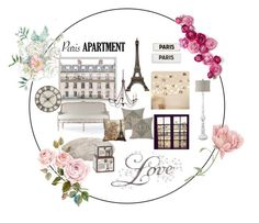 """""""the paris apartment"""" by mariajfield ❤ liked on Polyvore featuring interior, interiors, interior design, home, home decor, interior decorating, Home Decorators Collection, Rosanna, Pier 1 Imports and vintage"""